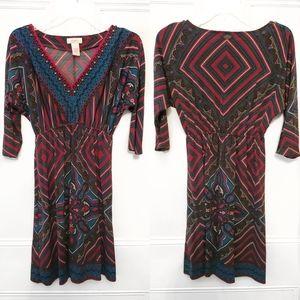 Tribal print chic dress